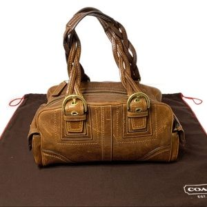 COACH Soho Mia Distressed Satchel
